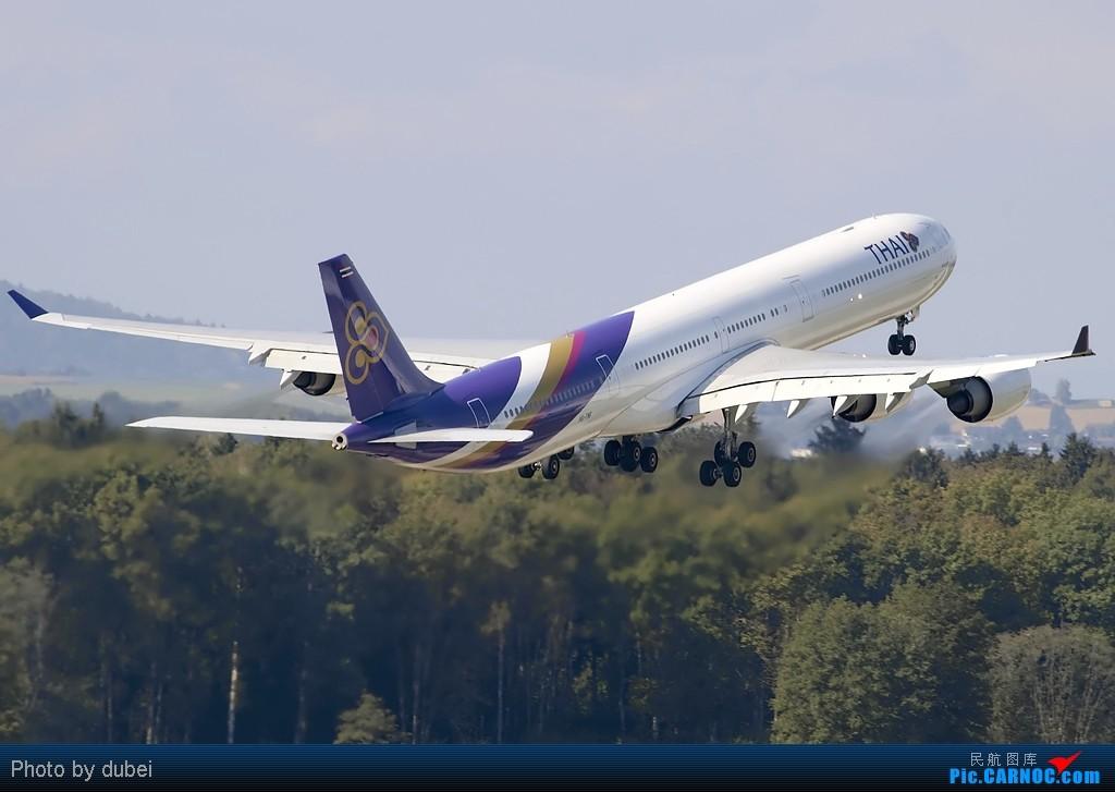 [原创]出来冒个泡,大家好啊 - 苏黎世机场的一些照片 AIRBUS A340-600 HS-TNF