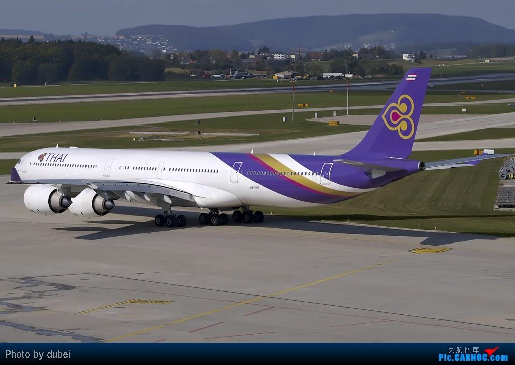 Re:[原创]出来冒个泡,大家好啊 - 苏黎世机场的一些照片 AIRBUS A340-600 HS-TNF