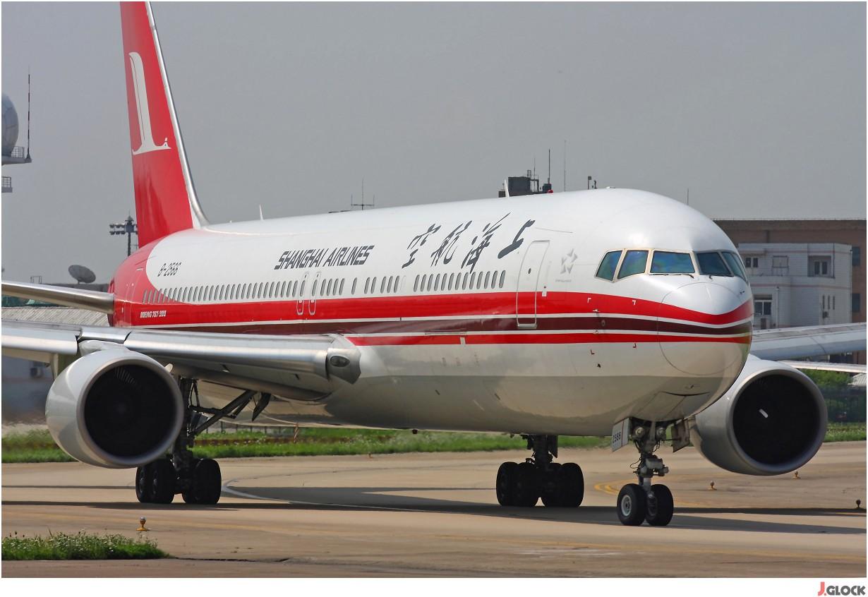Re:【 ♠ J 】 【SHA】 藏了 120天的照片  回味虹桥18头带来的震撼距离 !! BOEING 767-300 B-2566 中国上海虹桥机场