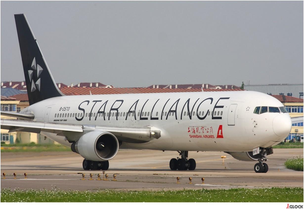 Re:[原创]【 ♠ J 】 【SHA】 藏了 120天的照片  回味虹桥18头带来的震撼距离 !! BOEING 767-300 B-2570 中国上海虹桥机场