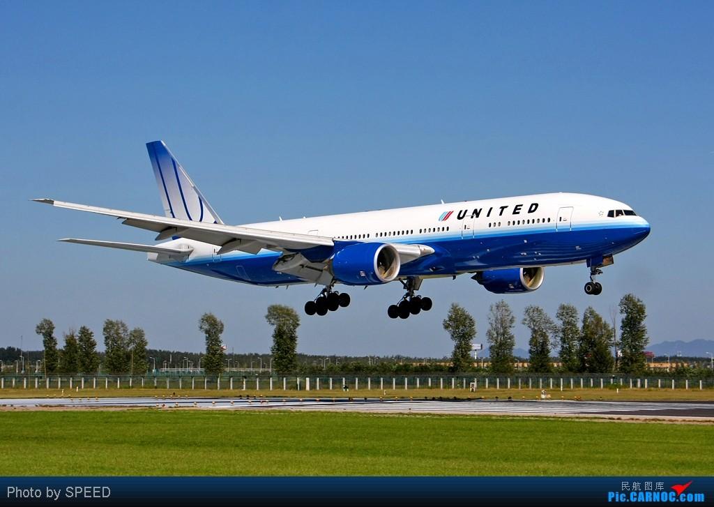 Re:[原创]同样的18R,同样的772! BOEING 777-200ER N217UA 中国北京首都机场