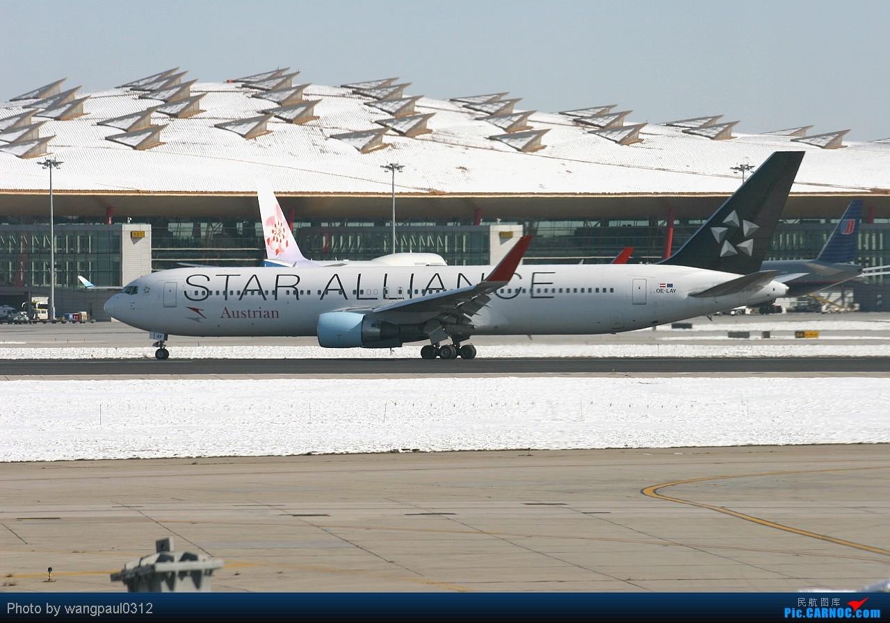 Re:[原创]当时那架飞机离我的相机只有0.1公里时发现相机没装存储卡,但是四分之一炷香之后,这架飞机被我彻底的拍了下了,因为我做了一个惊人的举动 BOEING 767-3Z9/ER OE-LAY 北京首都国际机场