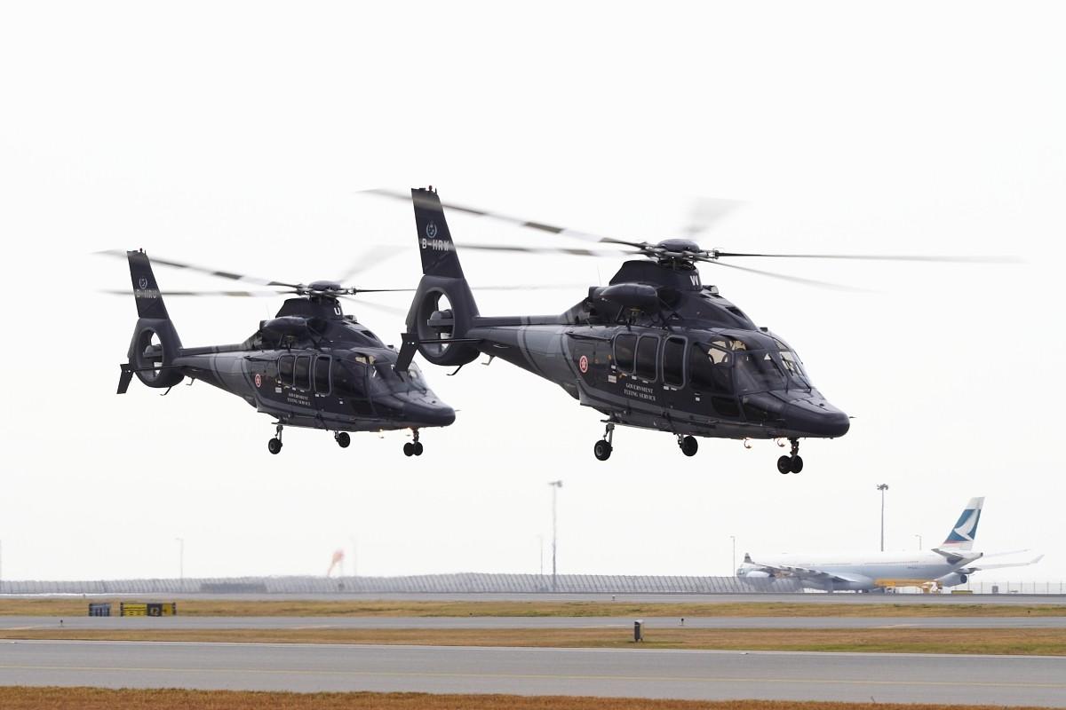 Re:[原创]香港政府飛行服務隊的開放日, 顯然我沒有理會到主人家 EUROCOPTER EC155 B1 B-HRW 中国香港赤鱲角国际机场