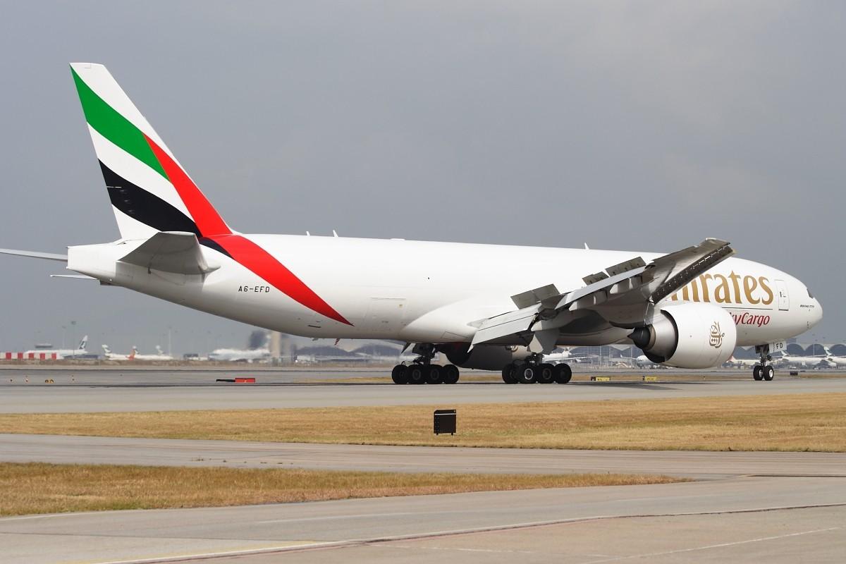 Re:[原创]香港政府飛行服務隊的開放日, 顯然我沒有理會到主人家 BOOEING 777-F1H A6-EFD 中国香港赤鱲角国际机场
