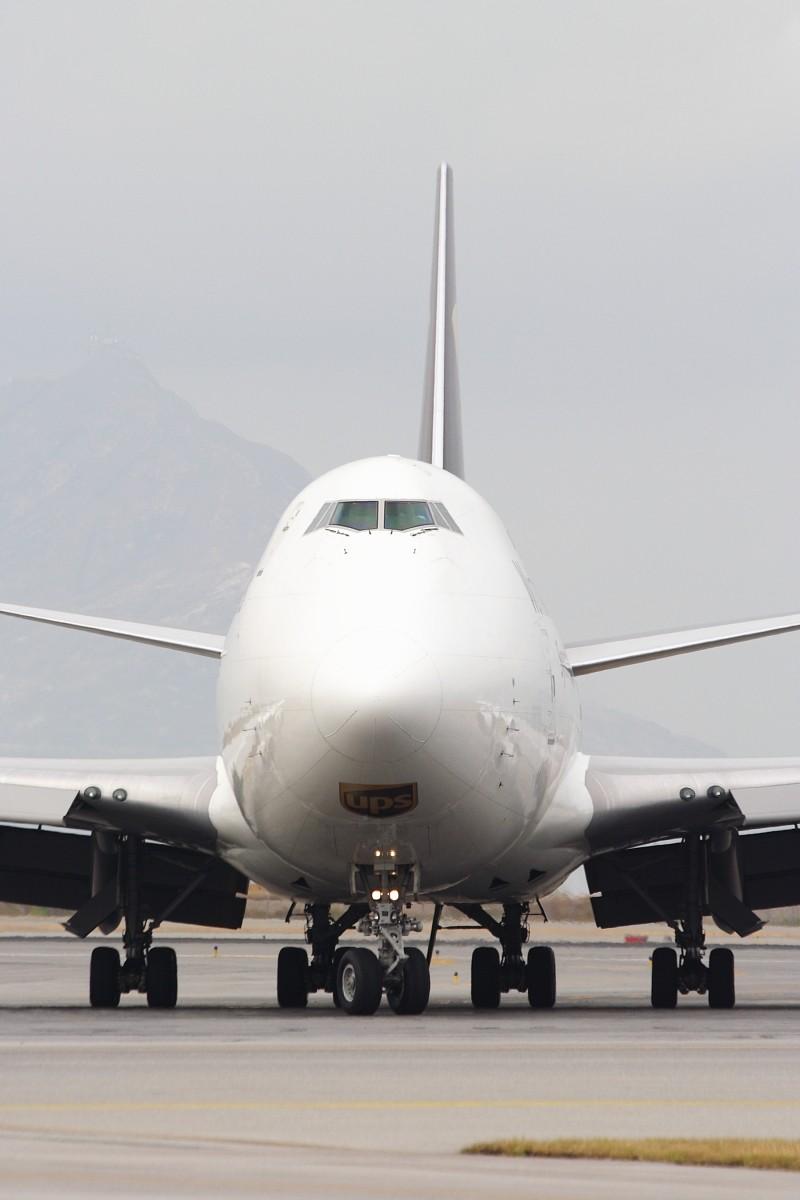 Re:[原创]香港政府飛行服務隊的開放日, 顯然我沒有理會到主人家 BOEING 747-44AF/SCD N570UP 中国香港赤鱲角国际机场
