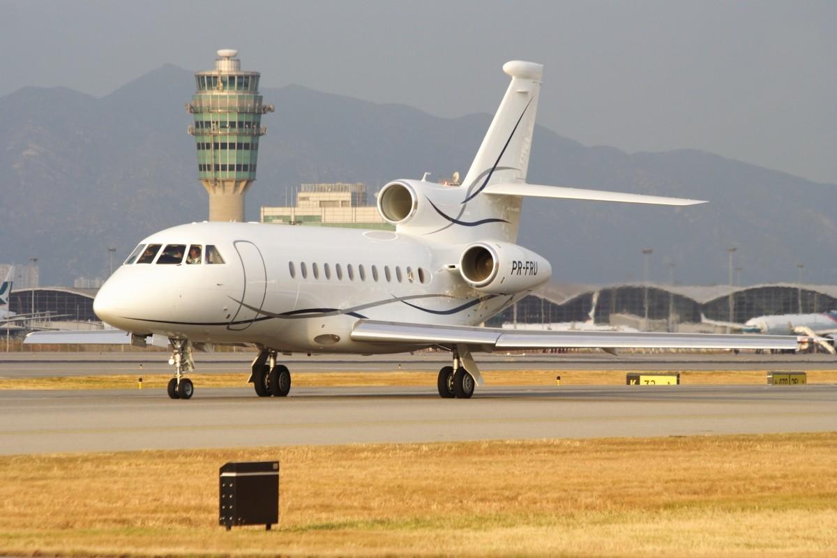 Re:[原创]香港政府飛行服務隊的開放日, 顯然我沒有理會到主人家 DASSAULT FALCON 900EX PR-FRU 中国香港赤鱲角国际机场