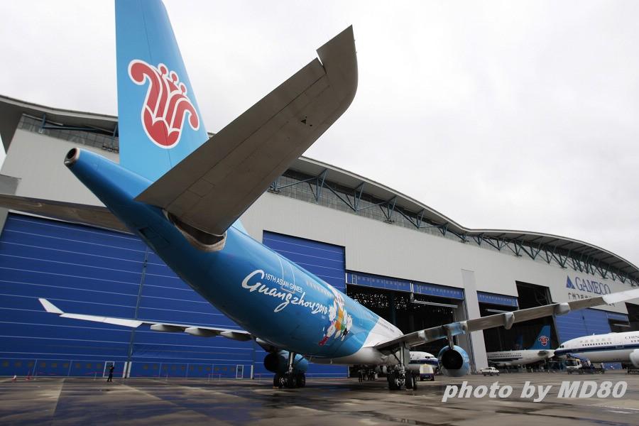 "re:[原创]南航""亚运号""正式亮相 airbus a330-200 b-6057 中国广州图片"