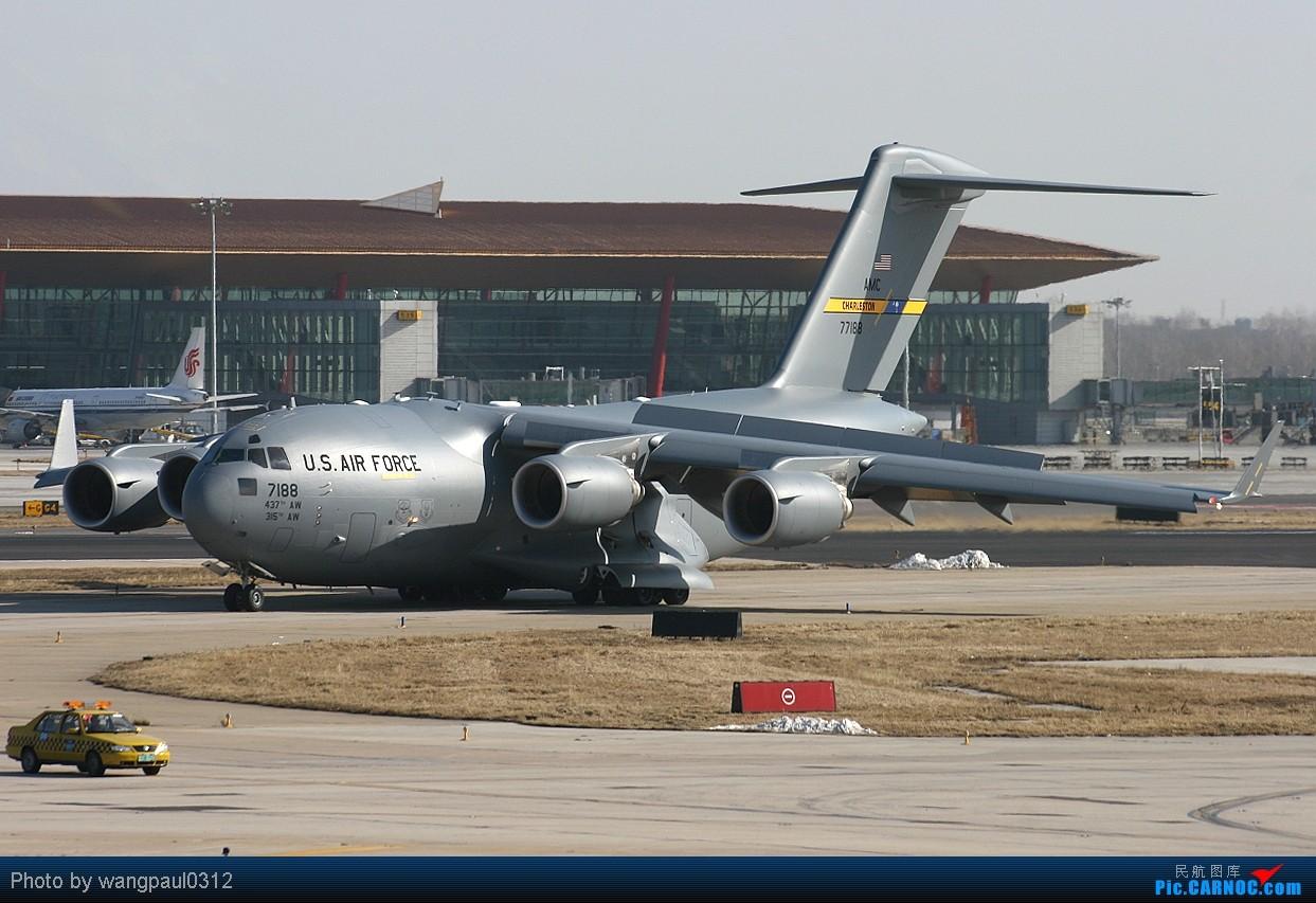 [原创]有信心不一定会成功,没信心一定不会成功! BOEING C-17A GLOBEMASTER III 07-7188 北京首都国际机场
