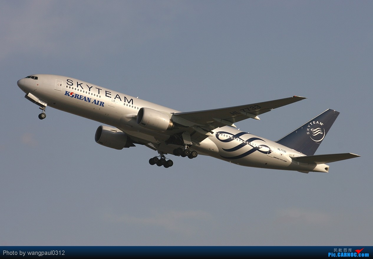 Re:[原创][首发]大韩航空天合联盟彩绘777首都机场迎风腾飞(感谢SPEED!) BOEING 777-2B5/ER HL-7733 北京首都国际机场
