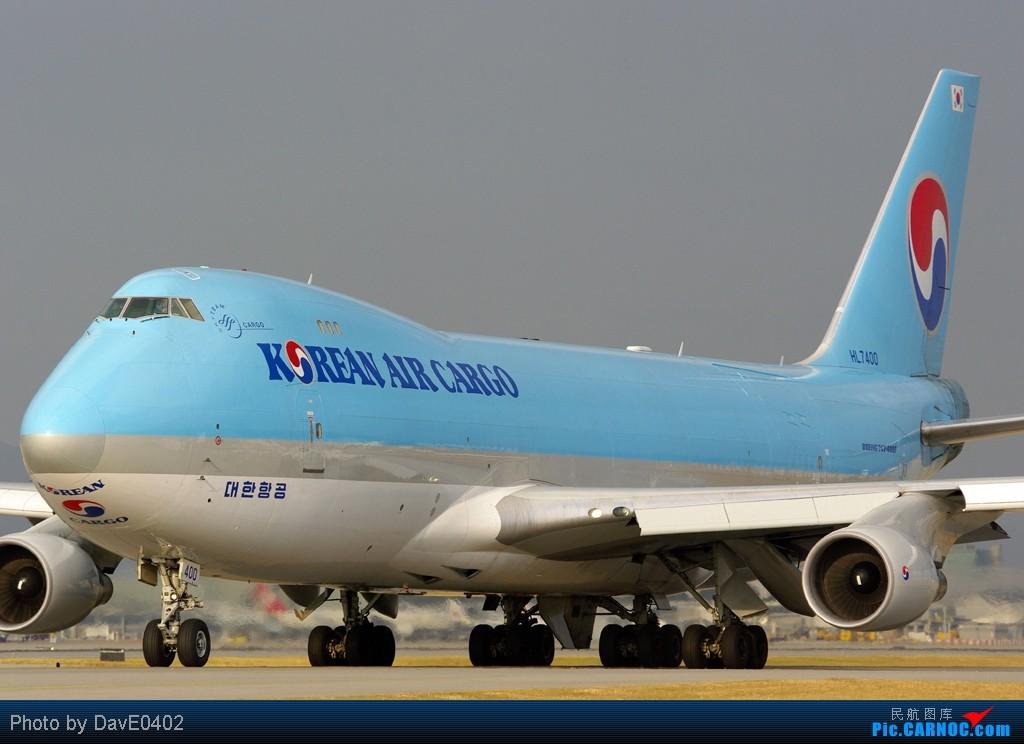 香港航拍分享 BOEING 747-400 HL7400 中国香港赤鱲角国际机场