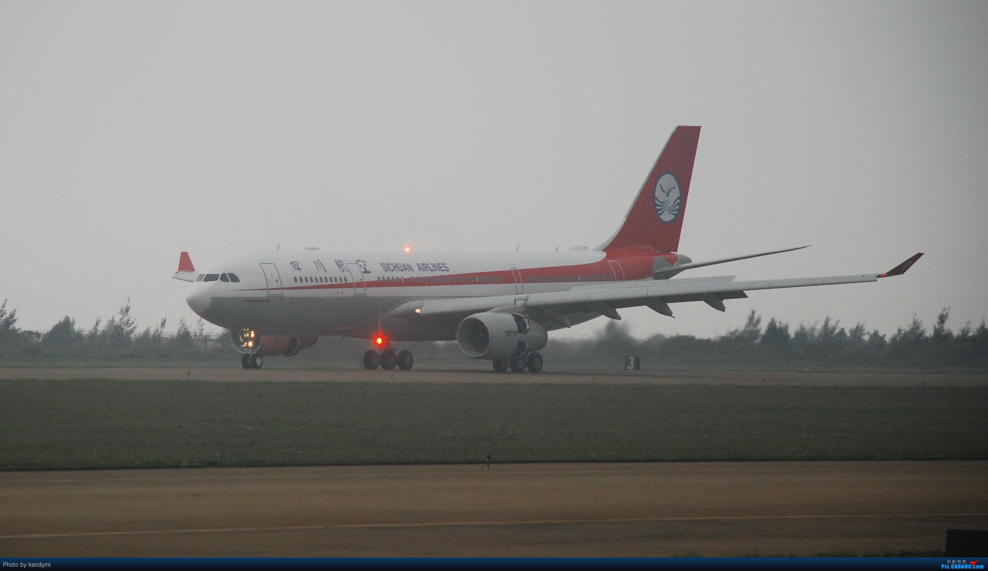 [原创]川航首架a330珠海三灶机场训练