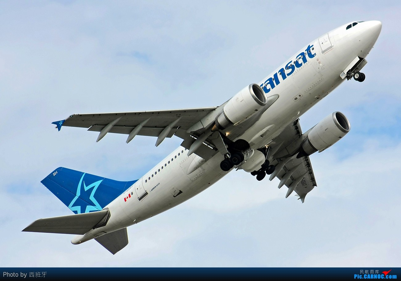[原创]快过新年了,来自加拿大AIR TRANSAT-A310小胖子! AIRBUS A310-308 C-GSAT Spain MALAGA