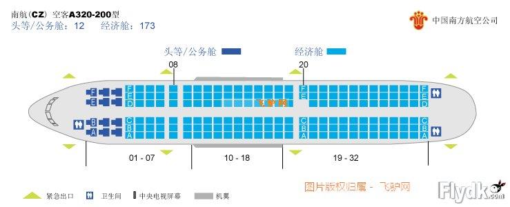 求南航A320座位图,经济舱从第5到第29排的,回帖送飞机