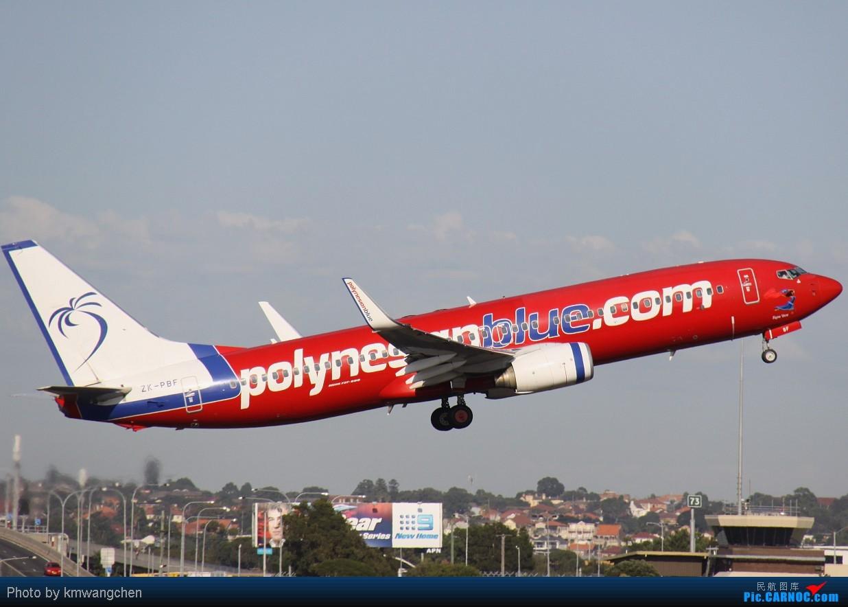 Re:[原创]]【SYDWC】悉尼晴天系列(3)jetstar330.快达747.Polynesian Blue737 BOEING 737-8FE ZK-PBF Australia SYDNEY KINGSFORD
