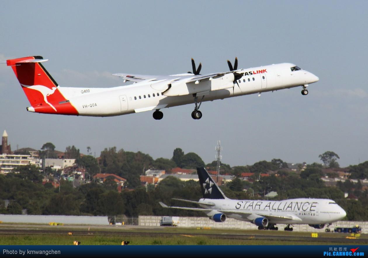Re:[原创]]【SYDWC】悉尼晴天系列(3)jetstar330.快达747.Polynesian Blue737 DE HAVILLAND CANADA DHC-8-402Q DASH 8 VH-QOA Australia SYDNEY KINGSFORD