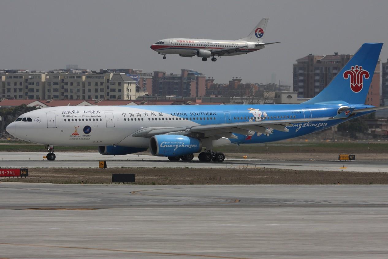 Re:[原创]【 ♠ J 】 SHA 虹桥最新最新角度 有彩绘 又震撼 又清晰 关键是零距离 !!! 直接秒杀那个破鸟笼 AIRBUS A330-200 B-6057 中国上海虹桥机场