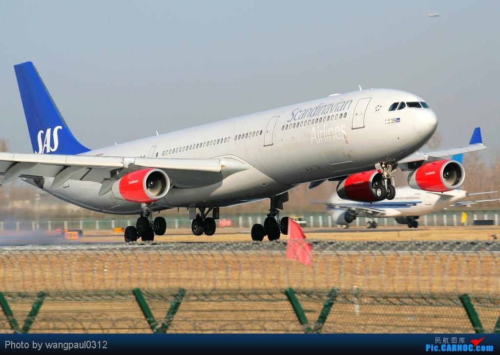 [原创]最近有点忙,错过了些好东西,贴几张08年的超级冷饭凑凑数 AIRBUS A340-313X OY-BKM 北京首都国际机场