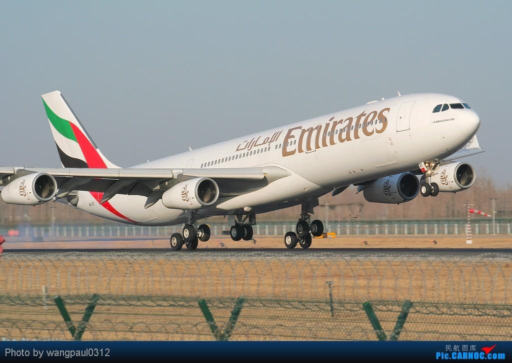 Re:[原创]最近有点忙,错过了些好东西,贴几张08年的超级冷饭凑凑数 AIRBUS A340-313X A6-ERT 北京首都国际机场