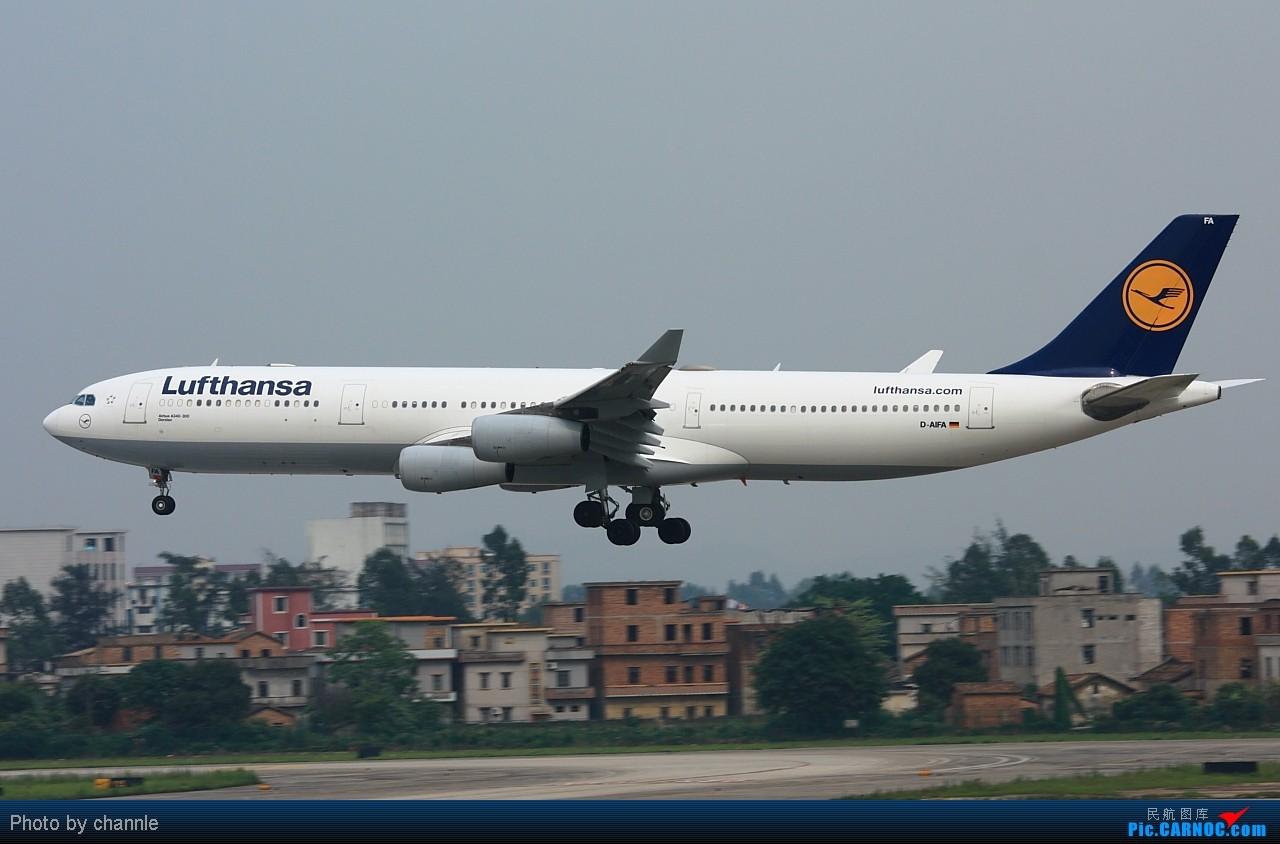 Re:[原创]CAN久违阳光了。。 AIRBUS A340-300 D-AIFA 广州白云