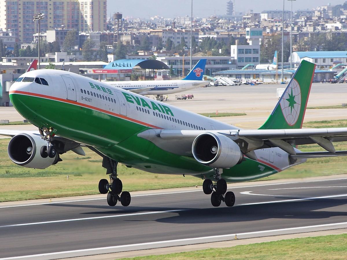 [原创][ANDREI] 时隔近一年,EVA的330又回来了! 附带几张逆光下的大图 AIRBUS A330-200 B-16307 中国昆明巫家坝机场