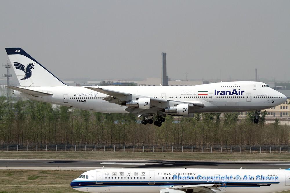 Re:[原创]飘在北京~~ BOEING 747-100 EP-IAM 中国北京首都机场