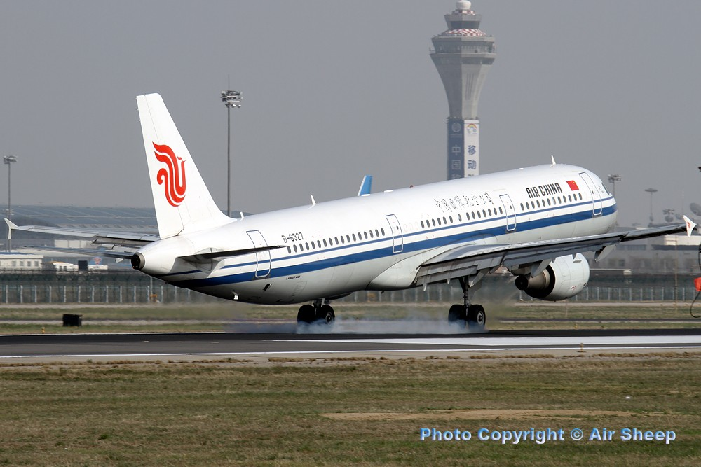 Re:[原创]飘在北京~~ AIRBUS A321-200 B-6327 中国北京首都机场