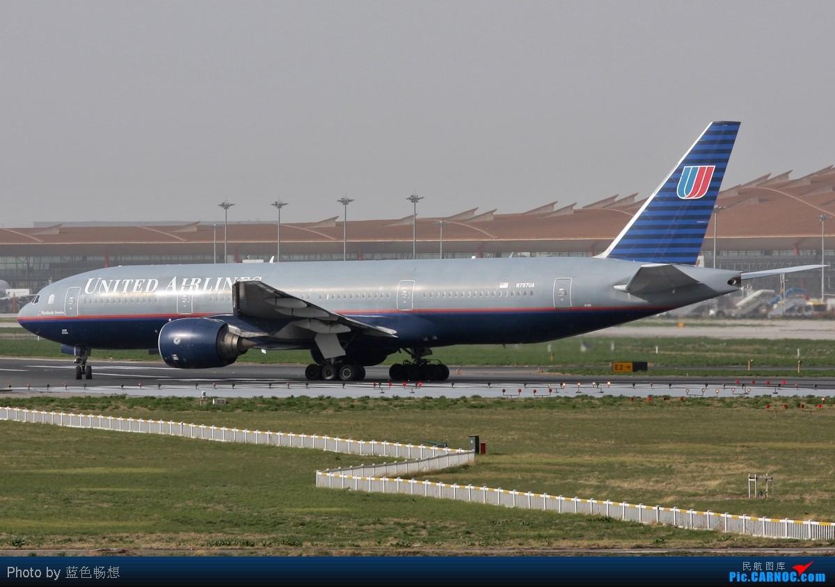 Re:[原创]<绝世痴飞>风沙挡不住通透!我们奋战T3 BOEING 777-200 N797UA 中国北京首都机场