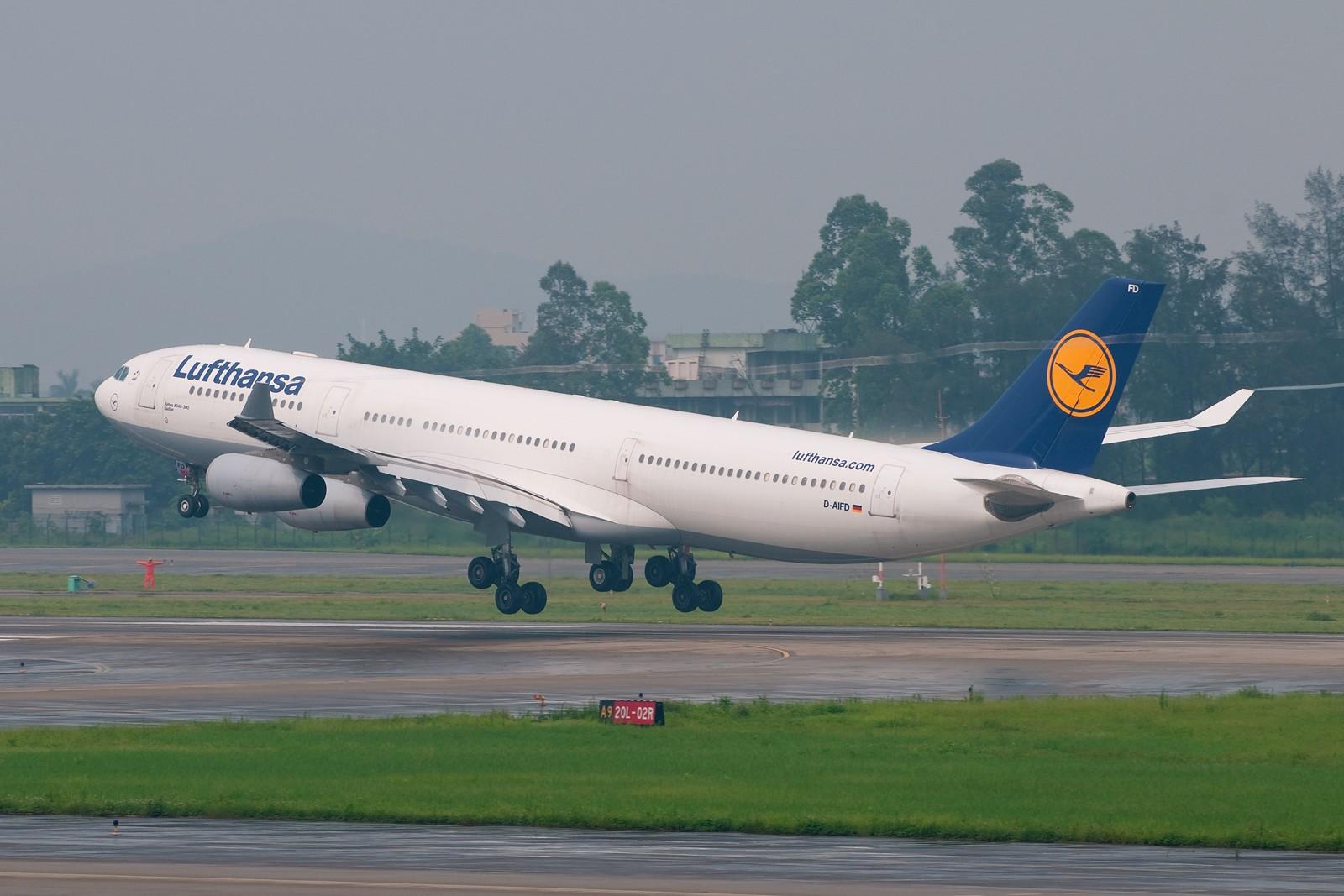 [原创][CASG]暴雨又来了 AIRBUS A340-300 D-AIFD 中国广州白云机场