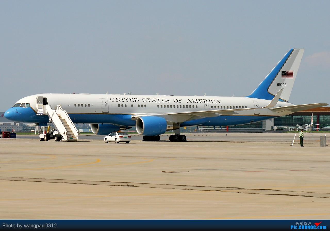 Re:[原创]这次没有奥巴马,只有希拉里克林顿,不知此行会给中美之间带来些什么 BOEING C-32A 99-0003 北京首都国际机场