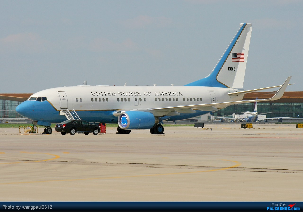 Re:[原创]这次没有奥巴马,只有希拉里克林顿,不知此行会给中美之间带来些什么 BOEING C-40B BBJ (737-7CP) 01-0015 北京首都国际机场