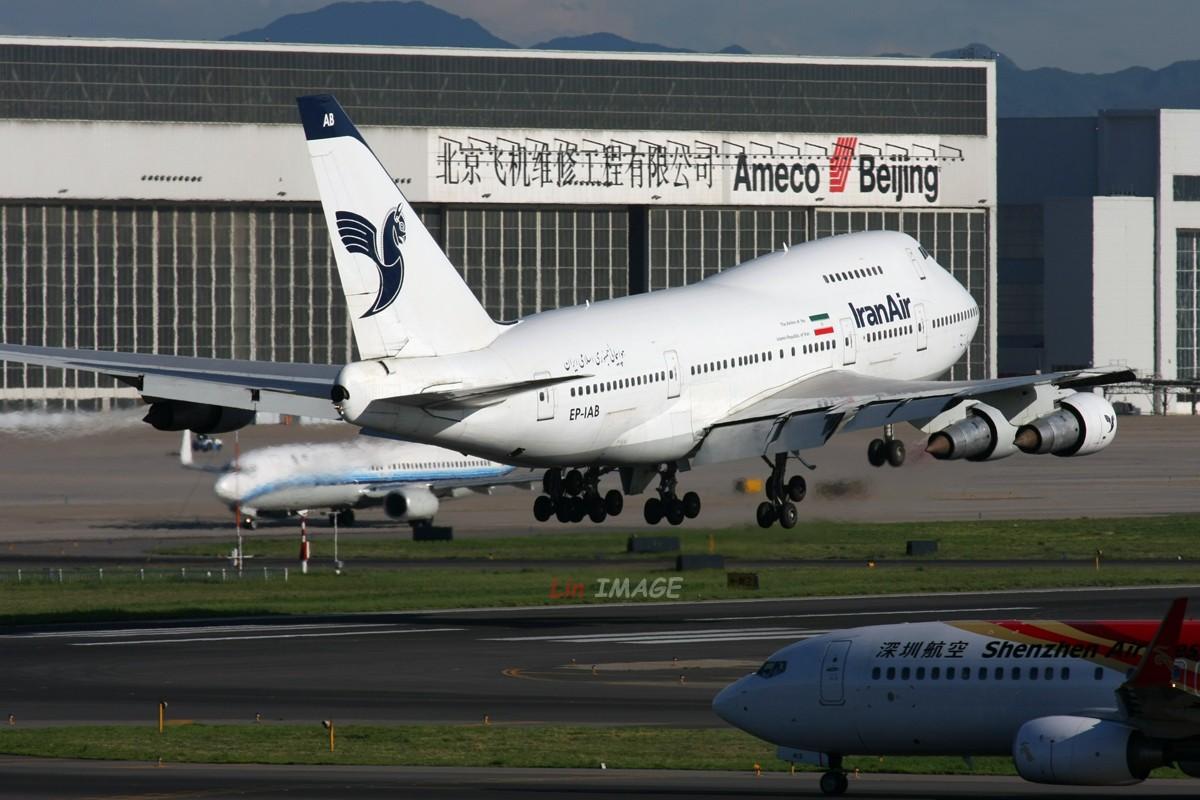 Re:[原创]【BLDDQ】<老林制造>十图计划系列,光线不再柔和 BOEING 747SP EP-IAB 中国北京首都机场