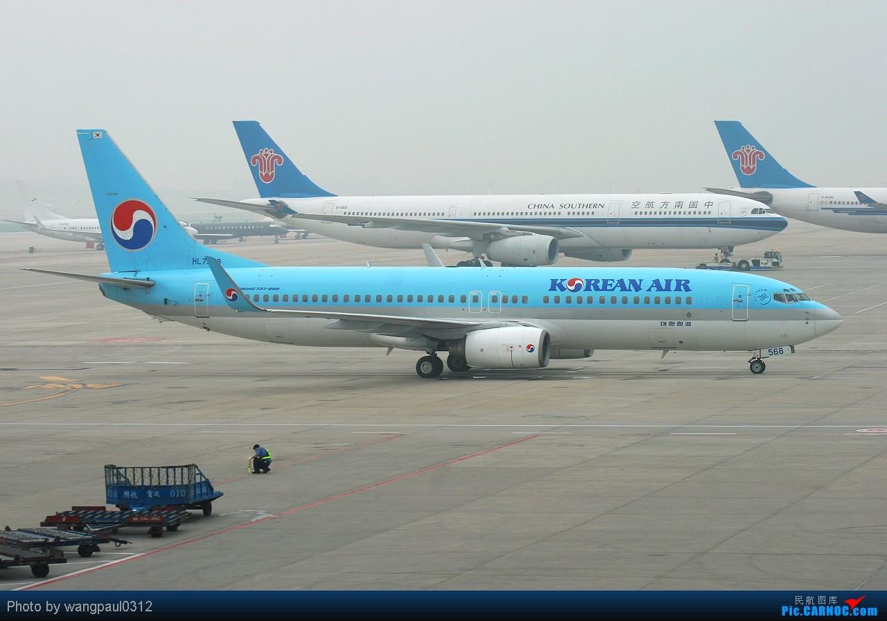Re:[原创]这下在首都机场T2也可以看到带小姨的外航767了 BOEING 737-8B5 HL7568 北京首都国际机场