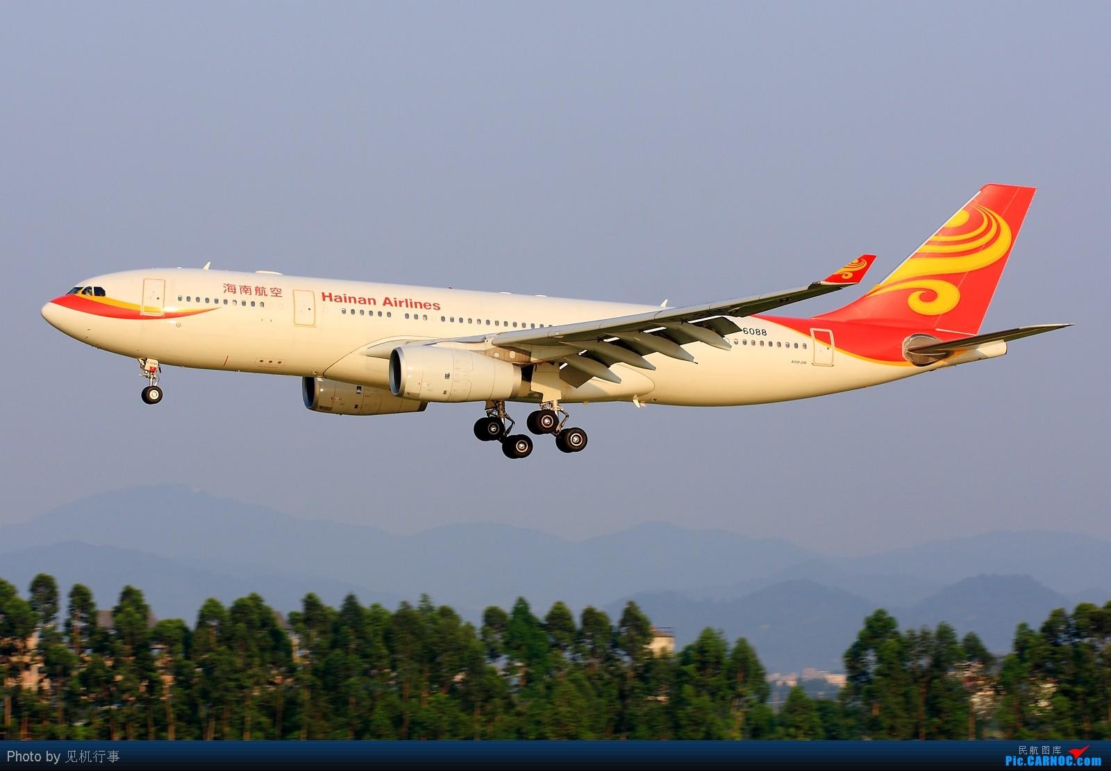 【深圳飞友会】差点给这架飞机忽悠了!还以为是香港航空A330。看它前面是香港航空,看它后面是海南航空。不知道海航在搞什么名堂。 AIRBUS A330-200 B-6088 中国广州白云机场