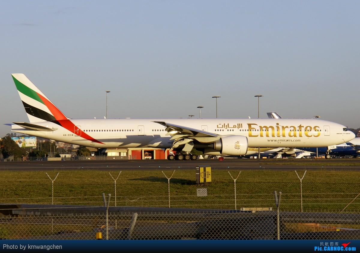 Re:[原创][KMG] 晃眼就到了777 发此帖谢众飞友支持 BOEING 777-31H/ER A6-ECW 澳大利亚悉尼金斯福德·史密斯机场