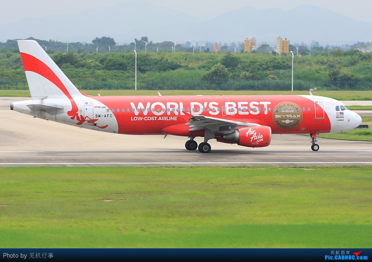 [原创]【深圳飞友会】红色代表吉祥,鸿运当头!飞机也纷纷穿上红色衣装。发6张以红色为主题的清一色帖子! AIRBUS A320 9M-AFC 中国广州白云机场