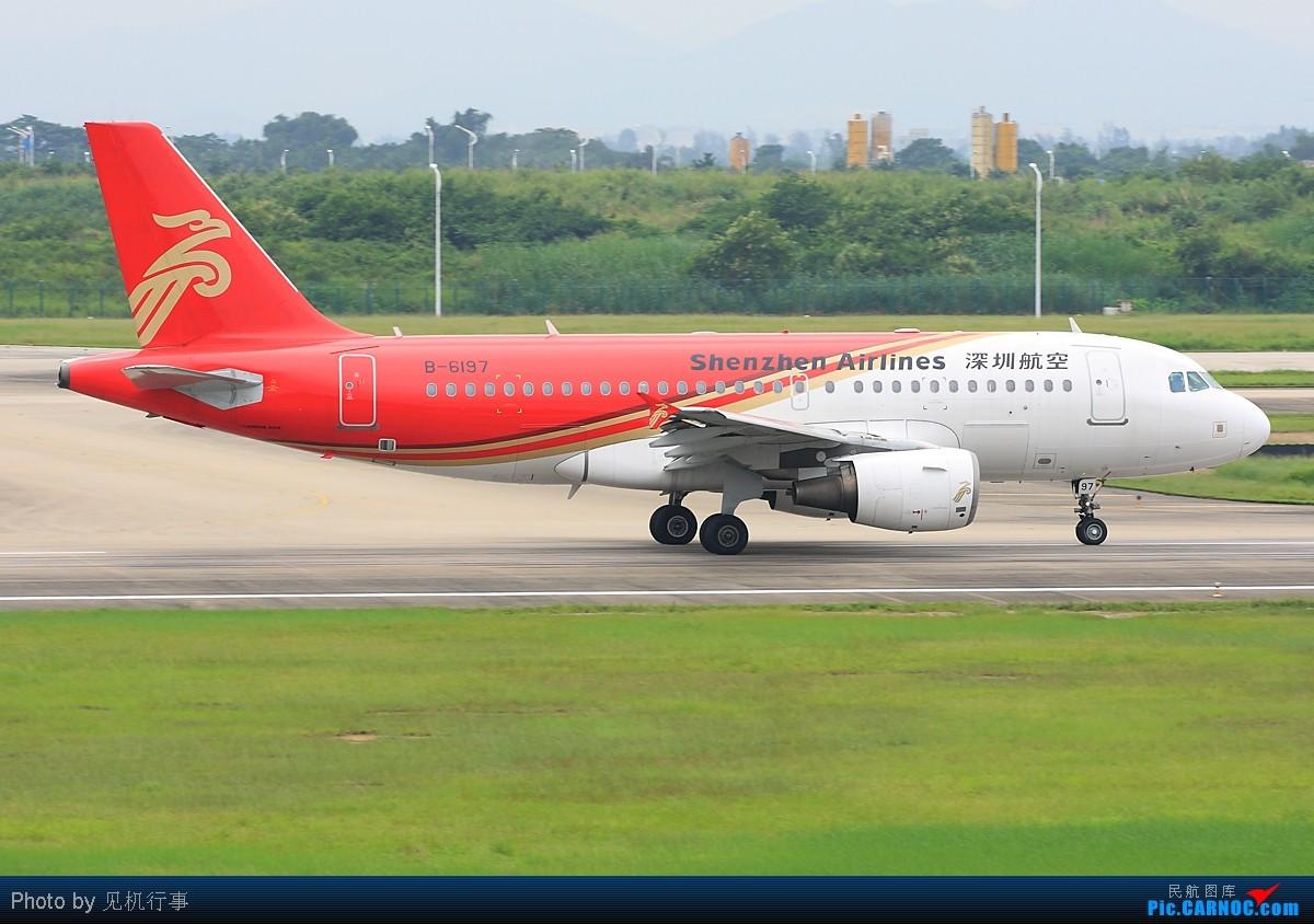 Re:[原创]【深圳飞友会】红色代表吉祥,鸿运当头!飞机也纷纷穿上红色衣装。发6张以红色为主题的清一色帖子! AIRBUS A319-100 B-6197 中国广州白云机场