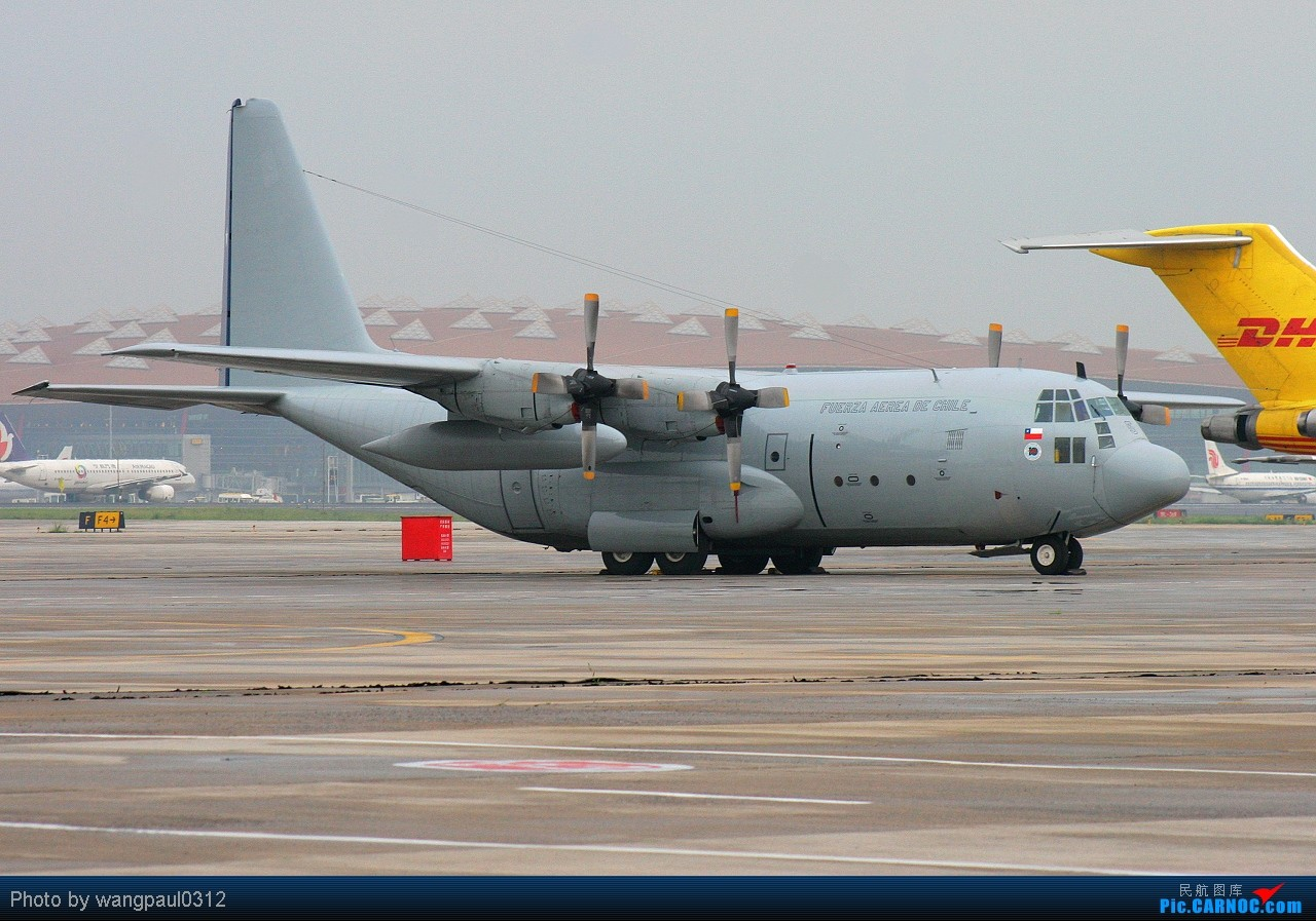 [原创]难得一见的智利空君大力神运输机,它载着我们的国宝回来了! LOCKHEED C-130H HERCULES 995 北京首都国际机场