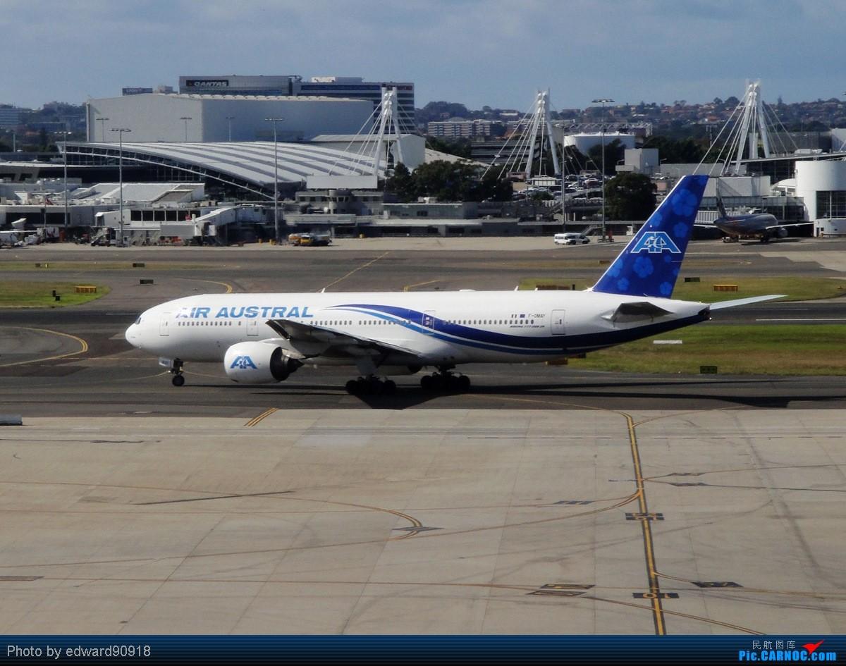 Re:[原创]【SYD&HKG ED】升到777啦...我最喜欢三条7了...发自己拍过的777庆祝庆祝...呼呼呼 BOEING 777-200ER F-OMAY 澳大利亚悉尼金斯福德·史密斯机场