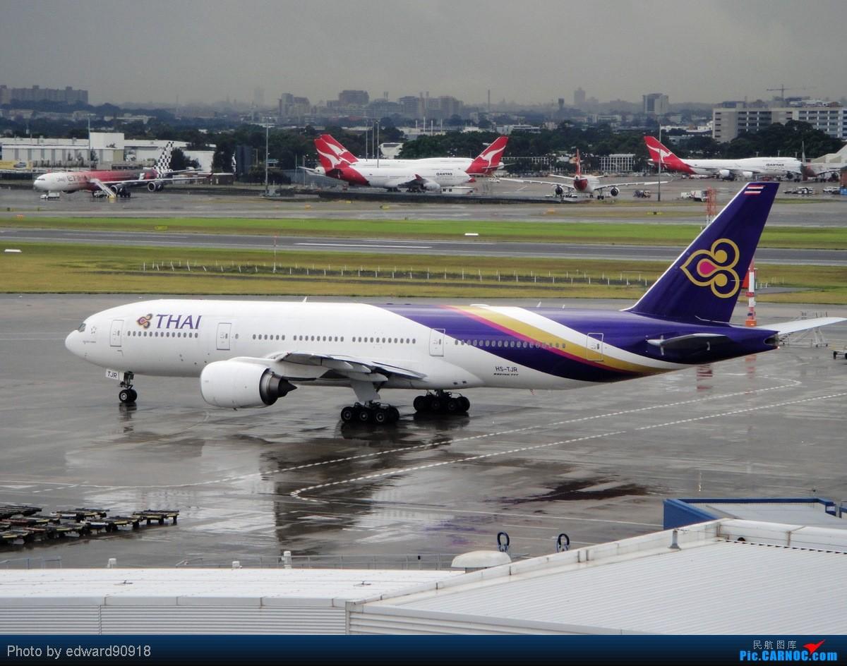 Re:[原创]【SYD&HKG ED】升到777啦...我最喜欢三条7了...发自己拍过的777庆祝庆祝...呼呼呼 BOEING 777-200ER HS-TJR 澳大利亚悉尼金斯福德·史密斯机场