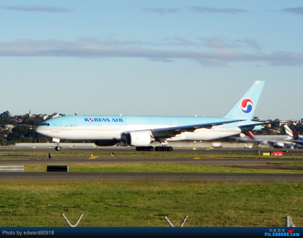 Re:[原创]【SYD&HKG ED】升到777啦...我最喜欢三条7了...发自己拍过的777庆祝庆祝...呼呼呼 BOEING 777-200ER HL7714 澳大利亚悉尼金斯福德·史密斯机场