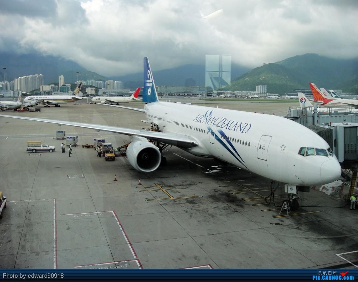 Re:[原创]【SYD&HKG ED】升到777啦...我最喜欢三条7了...发自己拍过的777庆祝庆祝...呼呼呼 BOEING 777-200ER ZK-OKH 中国香港赤鱲角国际机场