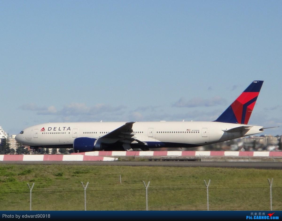 Re:[原创]【SYD&HKG ED】升到777啦...我最喜欢三条7了...发自己拍过的777庆祝庆祝...呼呼呼 BOEING 777-200LR N708DN 澳大利亚悉尼金斯福德·史密斯机场
