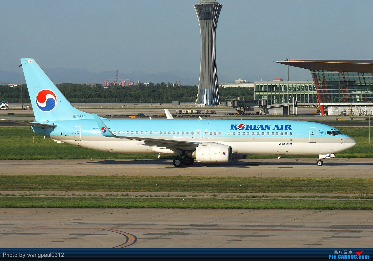 Re:[原创]进入这季节也算拍机这行业的淡季了,不管怎么着也算拍到了安东诺夫和阿根廷政府的砖机 BOEING 737-800 HL7560 北京首都国际机场