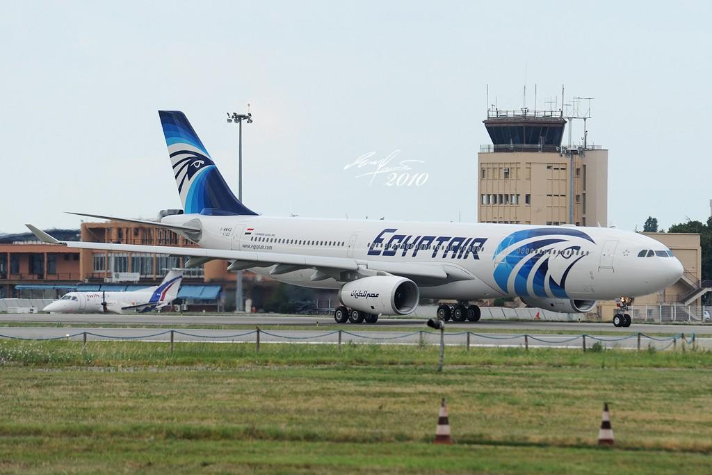 [原创]首发,埃及航空首架330-343X在图卢兹试航和第三架A400M落地 AIRBUS A330-343X F-WWKQ 法国图卢兹布拉尼亚克机场