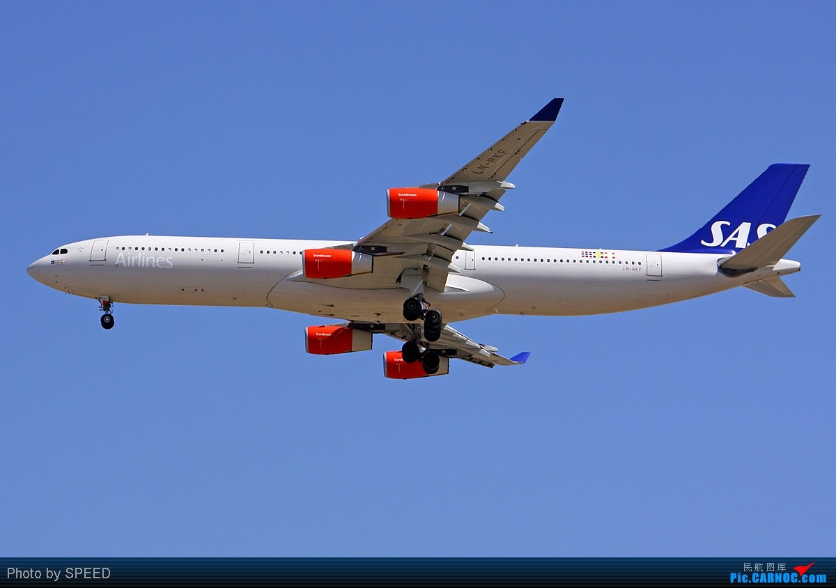 "Re:[原创]《发几张""斯堪的纳维亚""航空的空客343,我的家人即将乘它赴欧洲留学。》 AIRBUS A340-300 LN-RKF 北京首都国际机场"