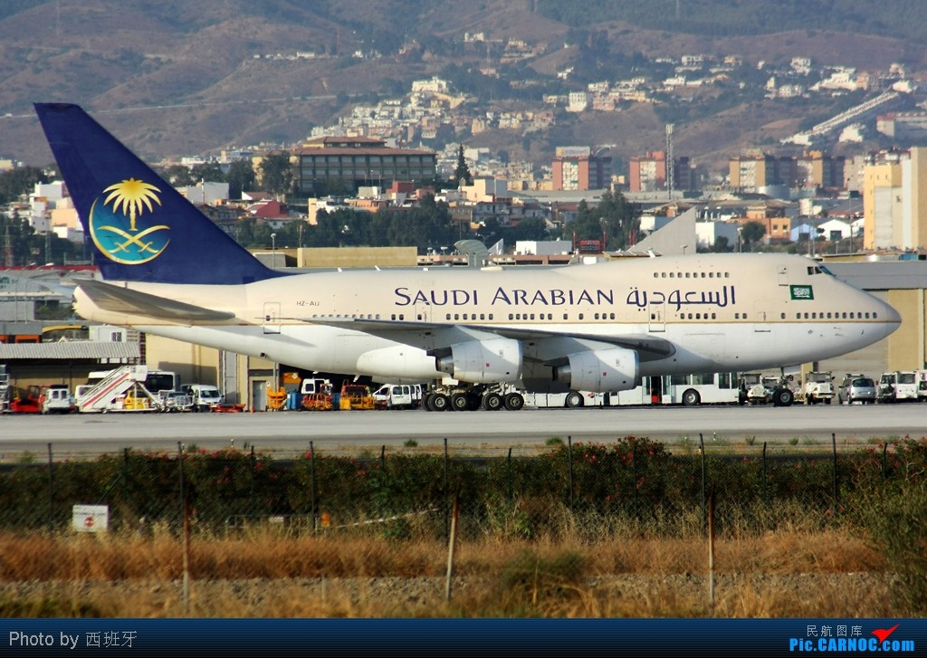 Re:[原创]☆☆☆首都机场的美国波音公司系列,从小到大!☆☆☆ BOEING 747SP-68 HZ-AIJ 西班牙马拉加机场
