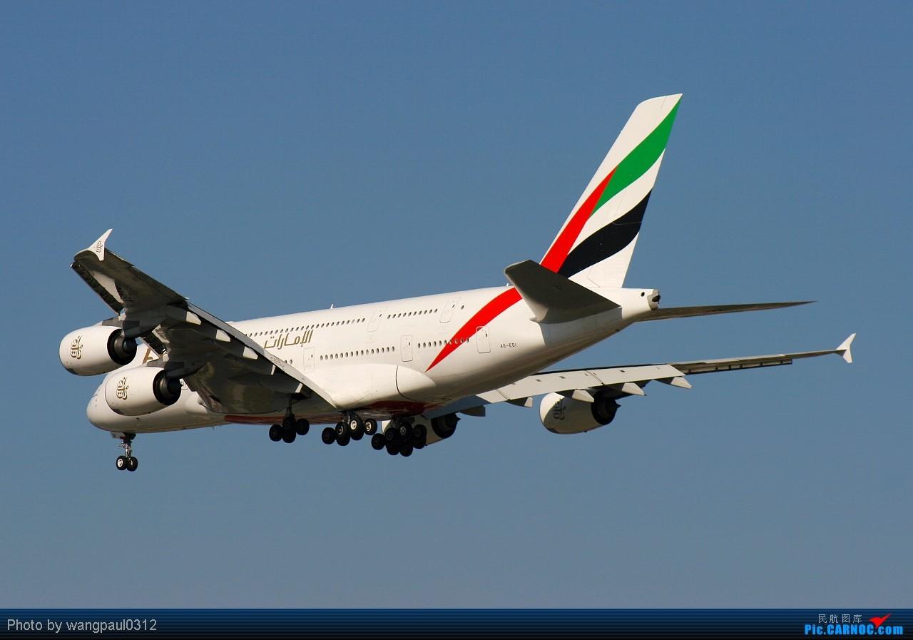 Re:[原创]发个380的专辑,起飞、降落不同的角度。还有一首极具争议的歌曲------《阿里夯豆》 AIRBUS A380-861 A6-EDI 北京首都国际机场