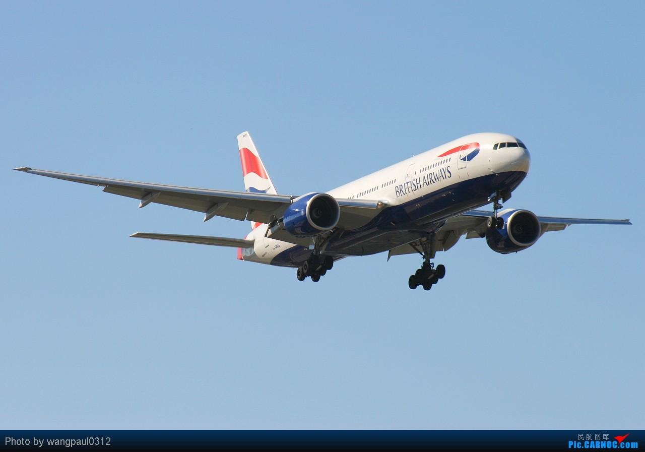 不列颠航空☆☆☆芬兰航空☆☆☆阿提哈德航空翱翔在北京的晴朗天空下 BOEING 777-236(ER) G-YMMU 北京首都国际机场