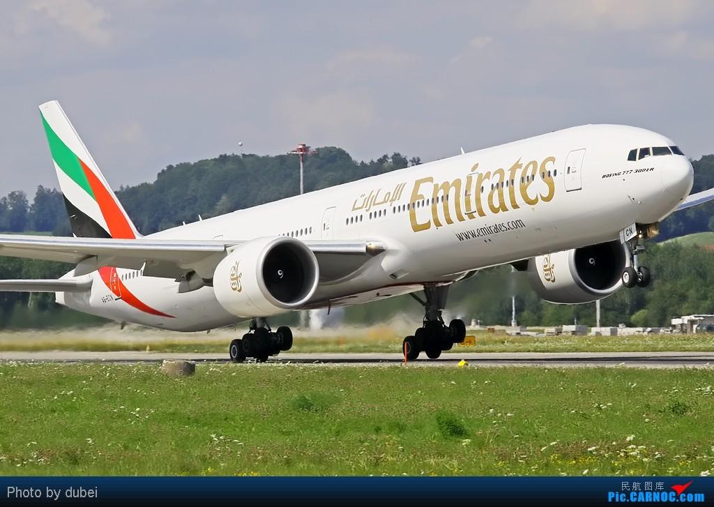 Re:[原创]好久没发图了,发几张前段时间拍的,证明我还活着 BOEING 777-300 A6-ECN 瑞士苏黎世机场