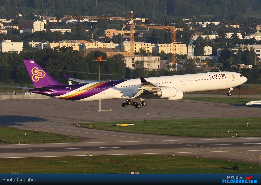 Re:[原创]好久没发图了,发几张前段时间拍的,证明我还活着 AIRBUS A340-600 HS-TNA 瑞士苏黎世机场